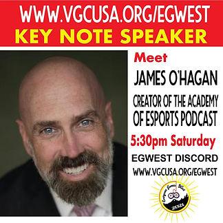 EGWEST Flier for James O'Hagan