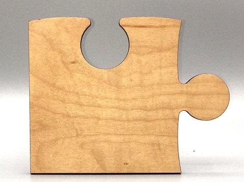 Puzzle Piece Coaster - Fruitwood Oil Finish