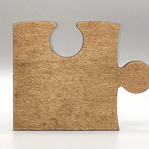 Puzzle Piece Coaster - Black Walnut Oil Finish