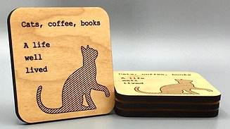 Cat Life Coaster - Set of 4