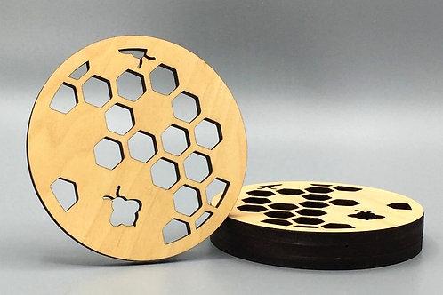 Honeycomb Tea Coaster - Set of 4