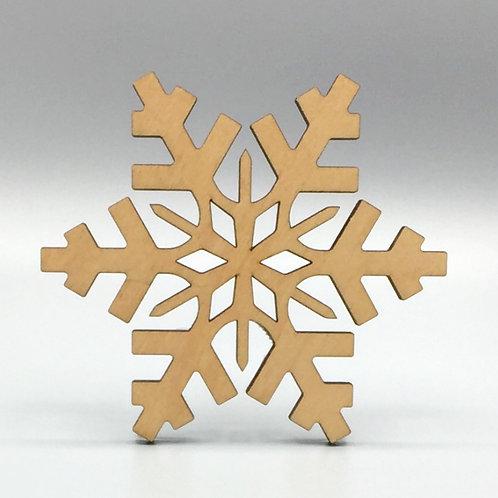 Snowflake Tea Coaster - Arctic Pattern