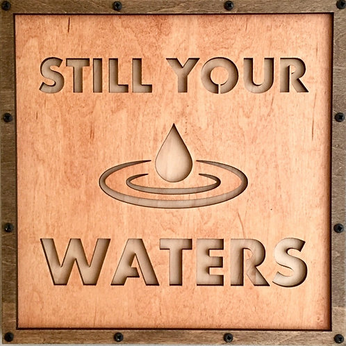 Still Your Waters Home Life Relief Sculpture
