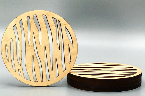 Tiger Stripe Tea Coaster - Set of 4