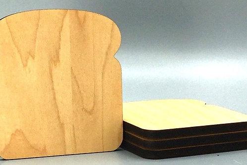 'Toaster' Coaster - Set of 4 - Fruitwood Oil Finish