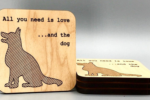 Puppy Love Coasters - Set of 4