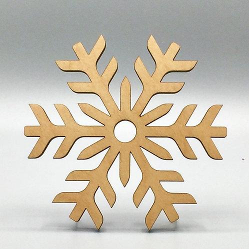 Snowflake Tea Coaster - Glacial Pattern