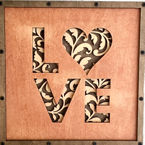 Love Home Life Relief Sculpture