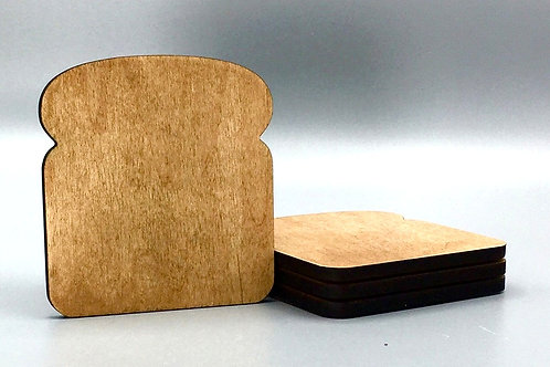 'Toaster' Coaster - Set of 4 - Black Walnut Oil Finish