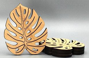 Monstera Leaf Tea Coaster - Set of 4