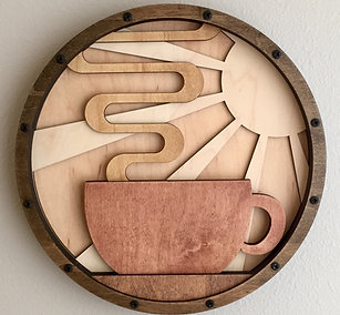 Coffee Home Life Relief Sculpture