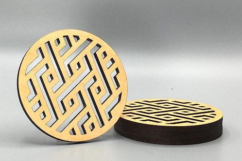 Diamond-Deco Tea Coaster - Set of 4