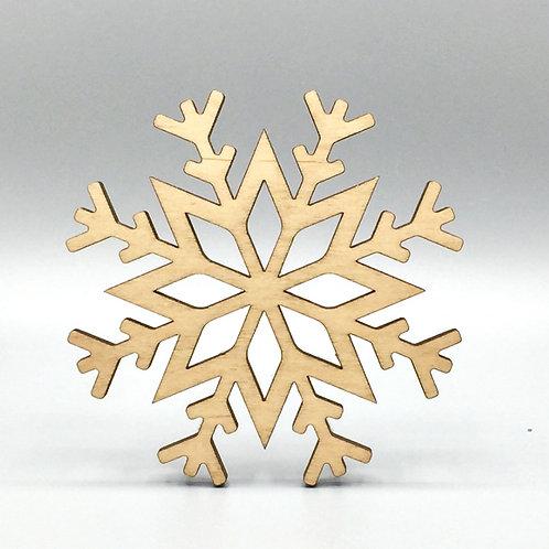 Snowflake Tea Coaster - Permafrost Pattern