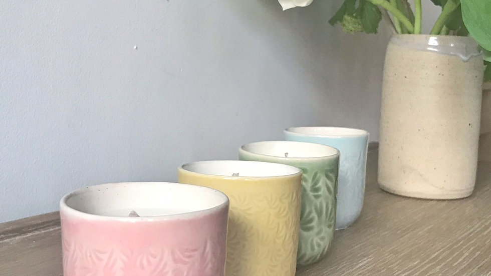 Peer & Freesia Scented Candles in collaboration with Yoku