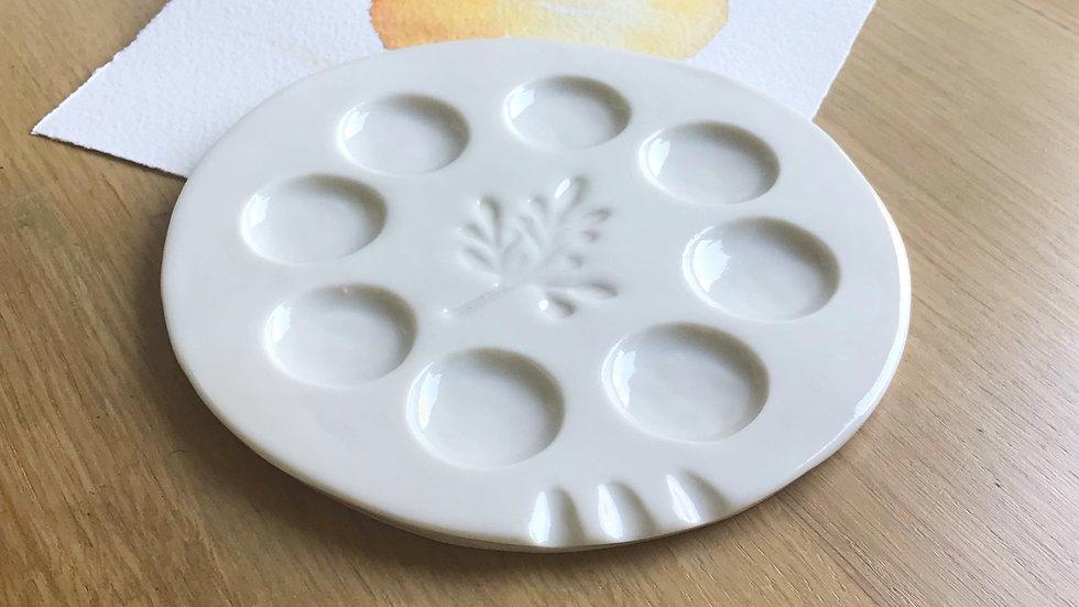 Clémence - Round porcelaine palette