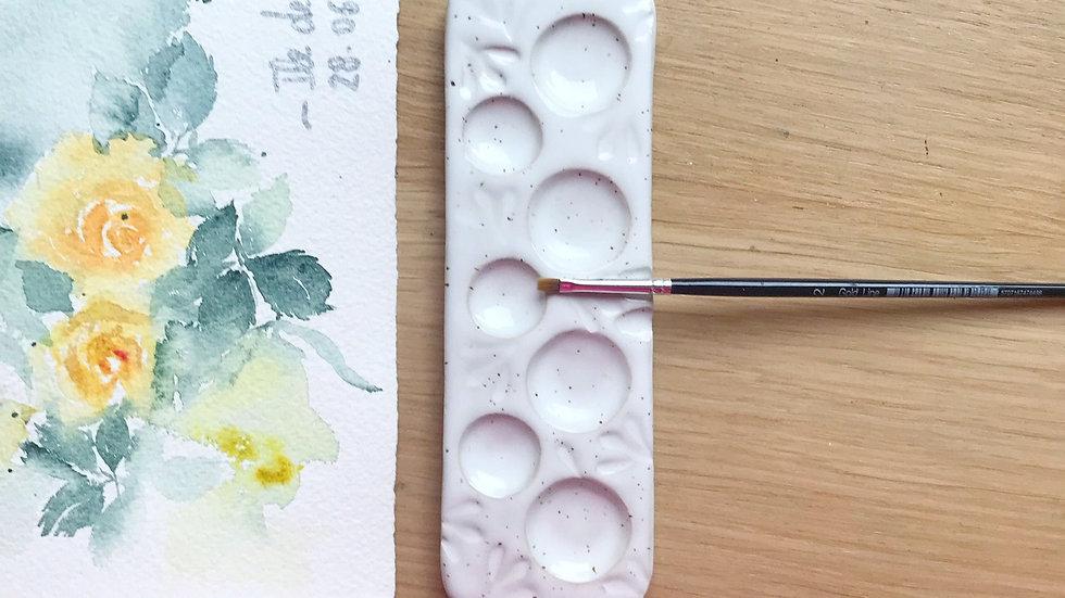 Long watercolor palette 7 sections