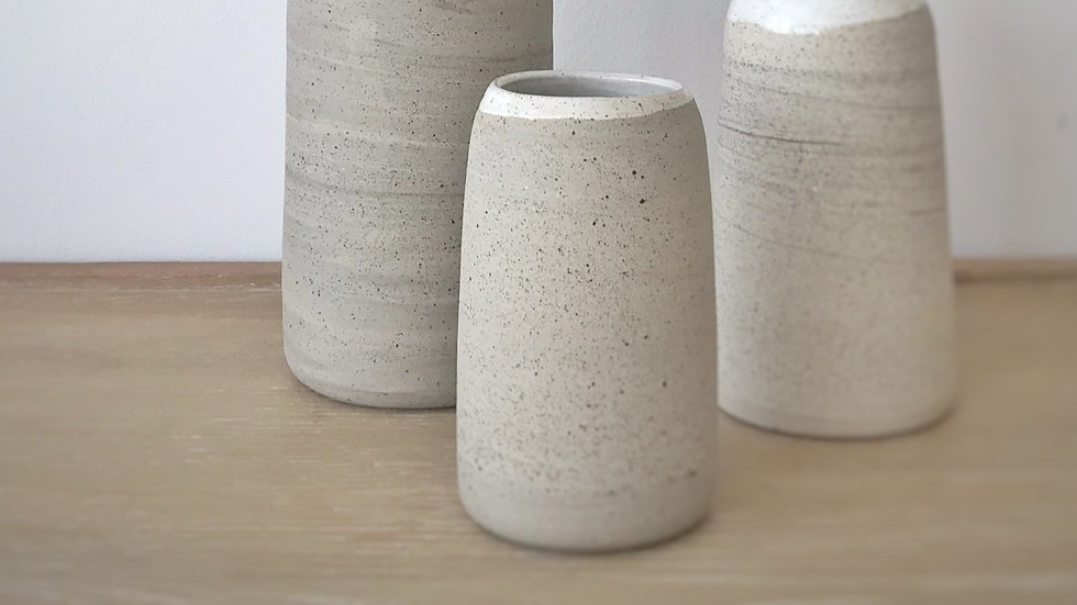 Top glazed vases