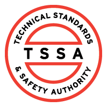 TSSA, technical standards & safety athority, certified