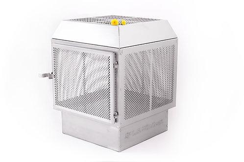 Foyer extérieur : le cubique en inox 16G (mat)