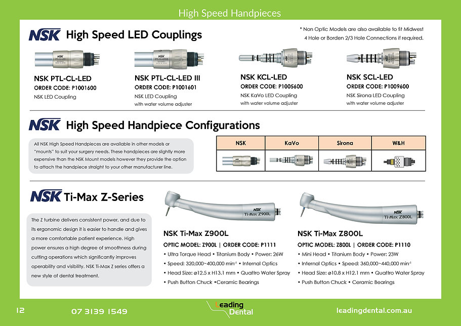 NSK High Speed Handpieces