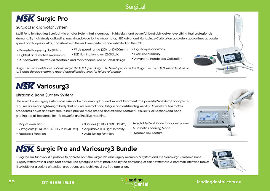 NSK Surgic Pro Implant System Variosury3 bone surgery sinus lift