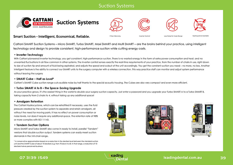 Cattani Suction Systems Turbo Smart Micro Smart