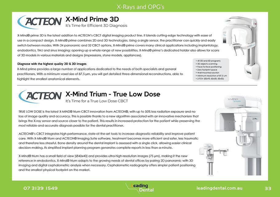 Acteon x-mind prime 3d cbct Trium true low dose CBCT OPG