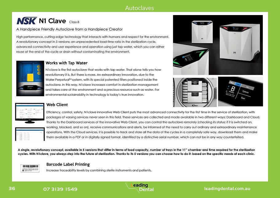 NSK N1 clave class b autoclave. A handpiece friendly autoclave from a handpiece creator. N1Clave