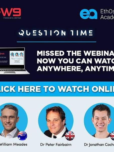 Watch Online: EthOss Bone Regeneration Question Time Webina
