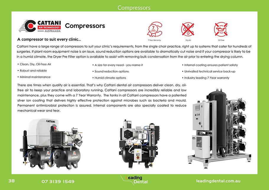 Cattani compressors dry air oil free