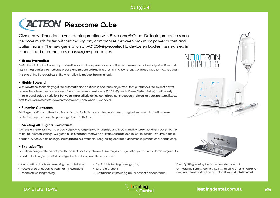 Acteon Piezotome Cube bone surgery