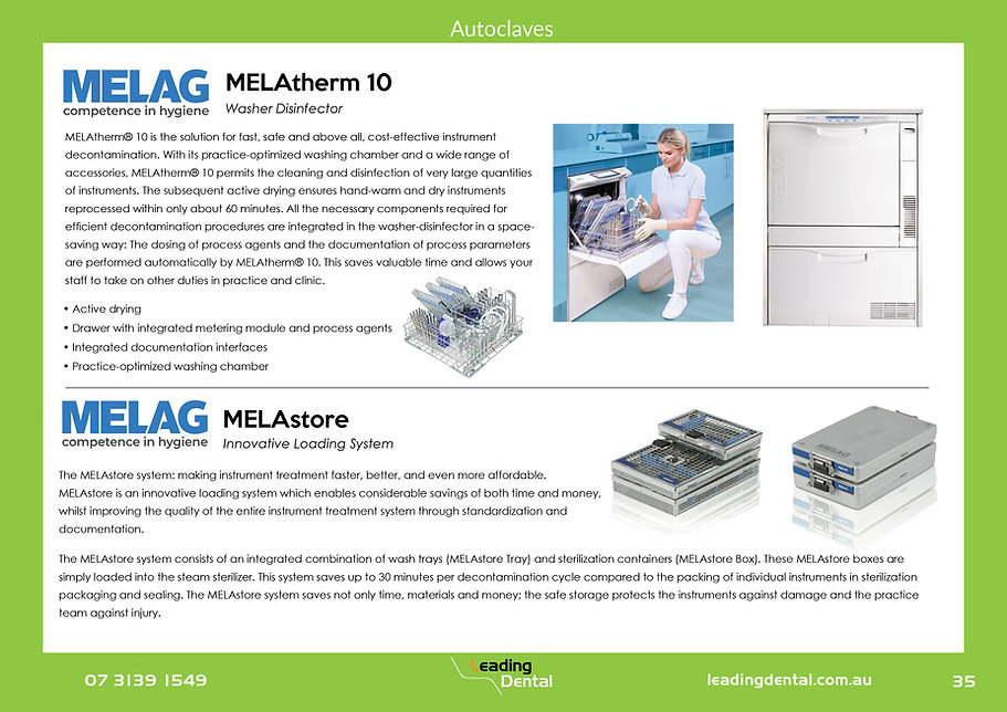 Melag melatherm washer disinfector. Melastore sterilizer loading system