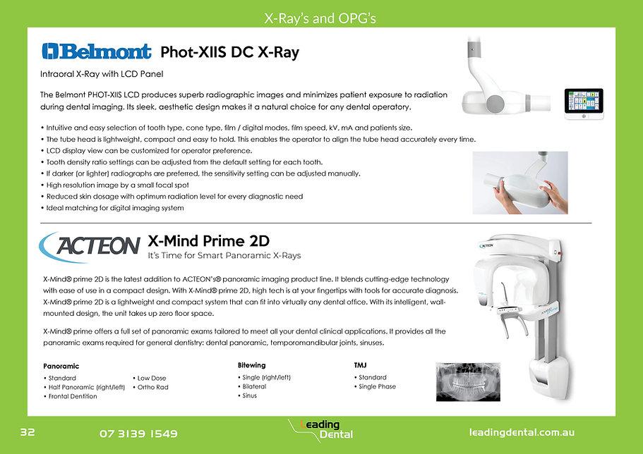 Belmont PHOT-X-IIS DC x-ray Acteon X-mind prime 2D OPG