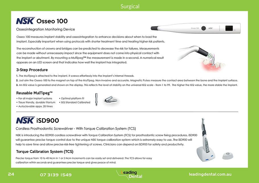 NSK surgical osseointegration prosthodontic screwdrivers iSD900