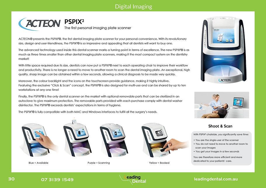 Acteon pspix digital imaging phosphor plate scanner