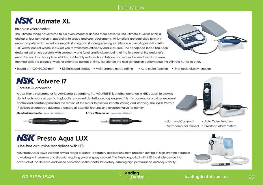 NSK Ultimate XL Volver i7 Prest Aqua LUX Laboratory Equipment