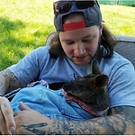 a man holds a baby wallaby in germantown, maryland