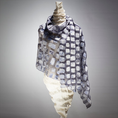 Lace Shawl / Wrap Soft Blue