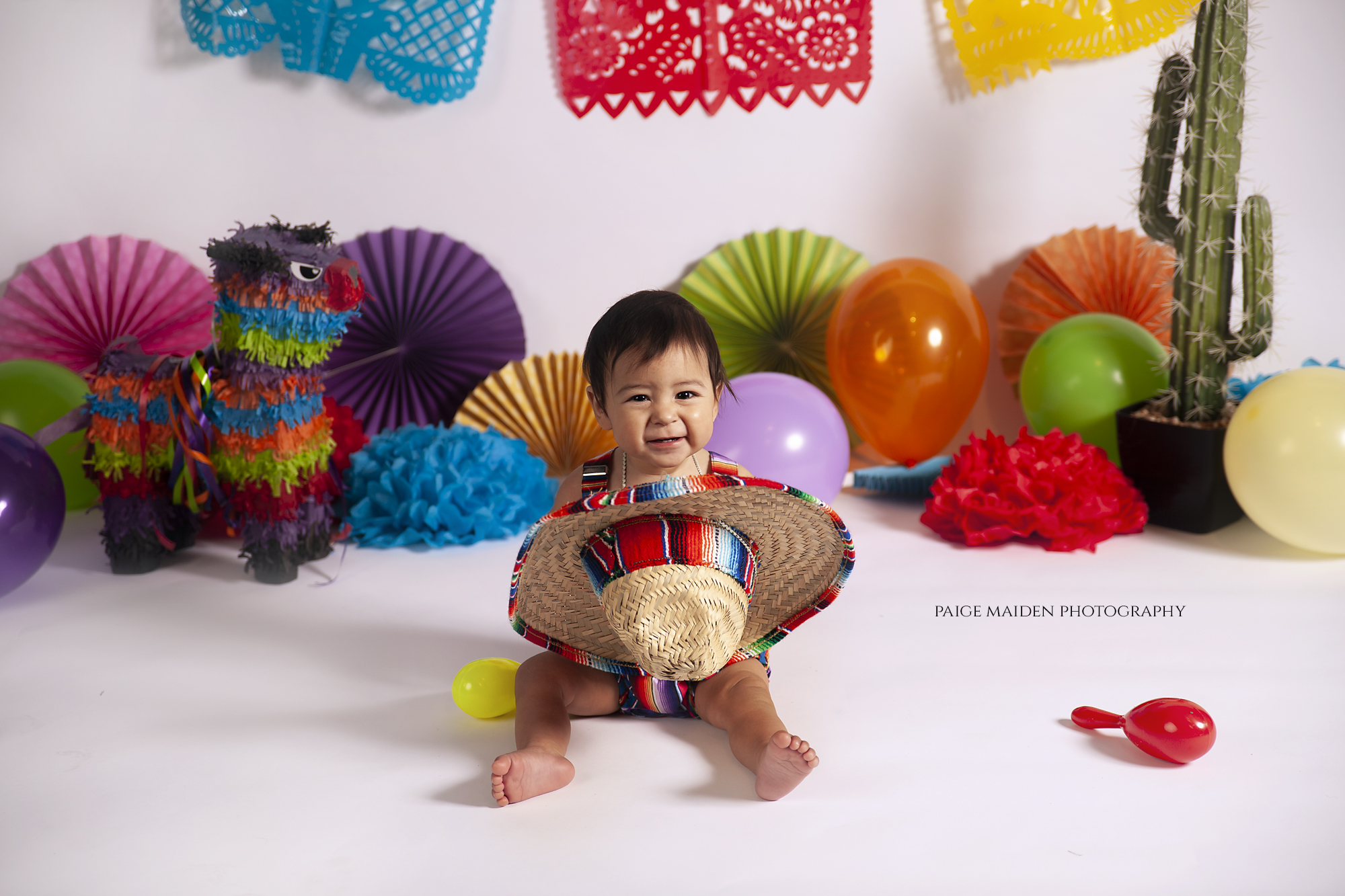 fiesta themed first birthday shoot