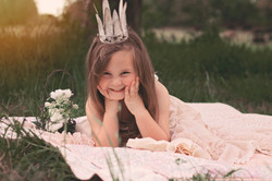 little girl at a princess session