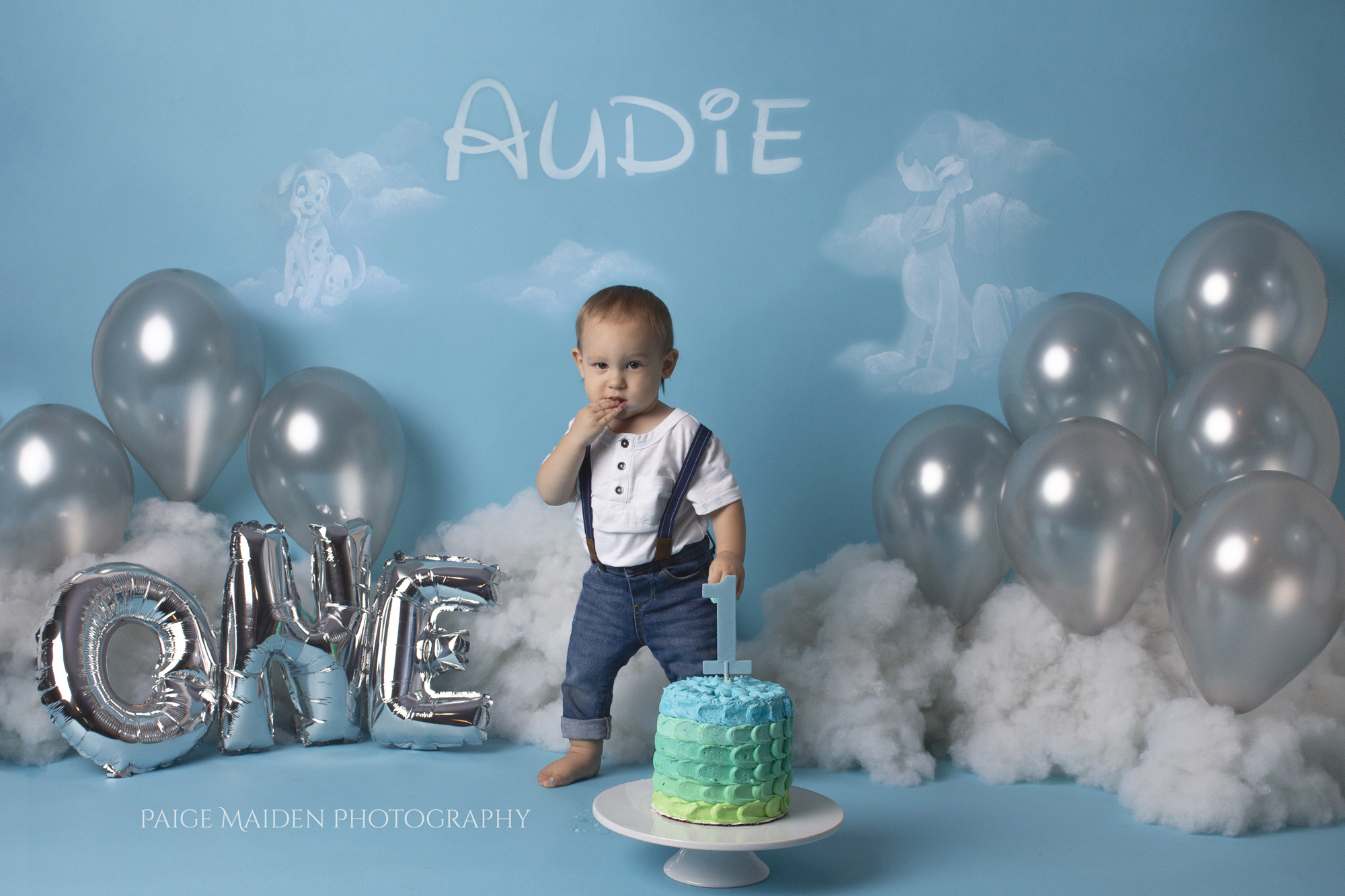 boys first birthday shoot