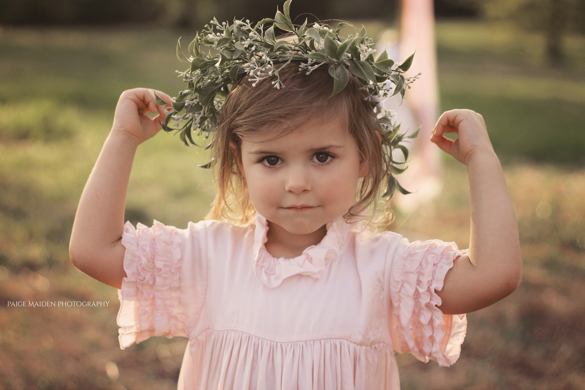 little girl with floral crown