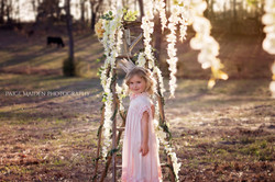 girl in pink dress and crown