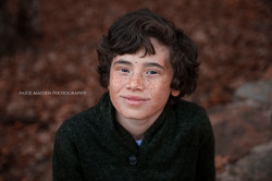 little boy with freckles
