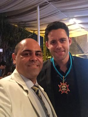 Chef Davi Costa com Thiago Pereira