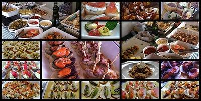 buffet a domicilio de tapas, pizzas, massas, paella, feijoada, mineiro, baiano, risoto, churrasco, arabe