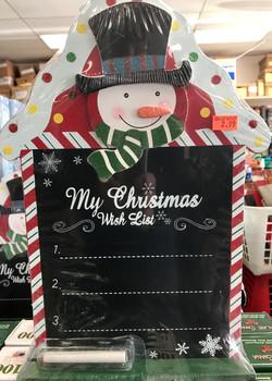 snowman wish list