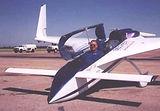 Long Eze aircraft with vortex generators
