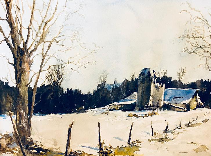 Watercolor Landscape by Brigit Krans