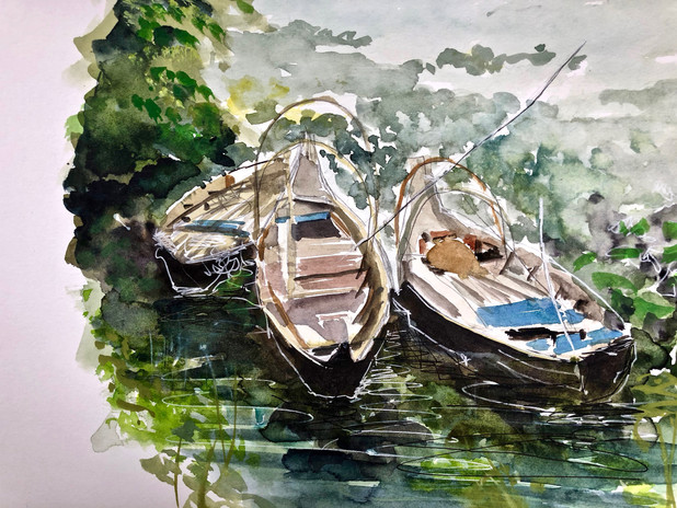 Boats On The 'Tonle Sap' - Cambodia